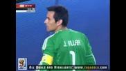 03.07.2010 Парагвай - Испания 0:1 Всички голове и положения - Мондиал 2010 Юар