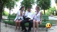 Скрита камера | Секси жени разсейват мъжете в парка!