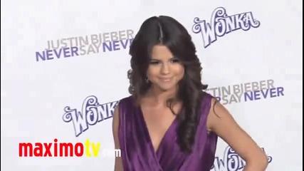 Selena Gomez на премиерата на Justin Bieber