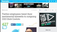 Twitter Employees Tweet Farewell to Dick Costolo