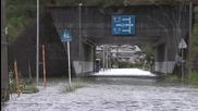 Щетите след тайфуна в Шикоку, Япония 10.8.2014