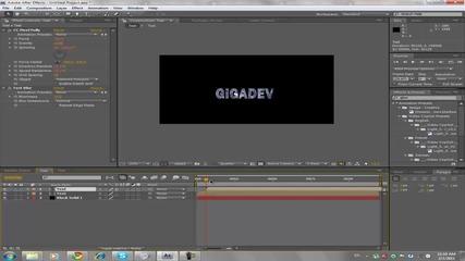 After Effects Cs4 02 Разрушаване на текст
