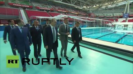 Russia: Putin meets Russian hopefuls at FINA World Championships
