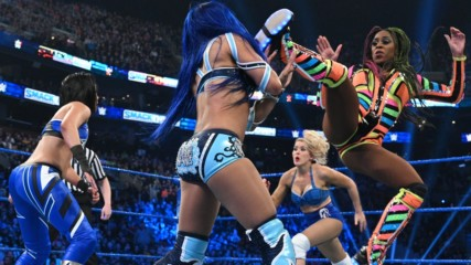 Naomi & Lacey Evans vs. Bayley & Sasha Banks SmackDown, Feb. 28, 2020