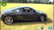 Тате ми я даде да покарам [ Audi R8 ]