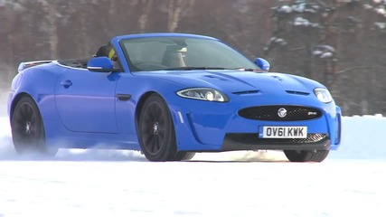 Jag Xkrs Convertible On Ice