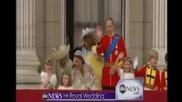 Кралската сватба: Целувката на Уилям и Кейт на балкона на Бъкингамския дворец