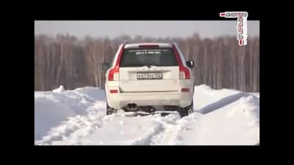 Тест на сняг - Volvo Xc90 vs Bmw X5