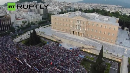 Massive Anti-Austerity March on Syntagma Square
