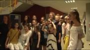 Златните момичета се срещнаха с феномена Андре Рийо
