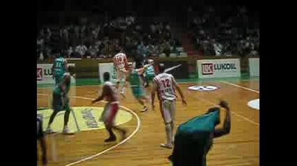 Willie Deane 3 Points Vs. Pau Orthez