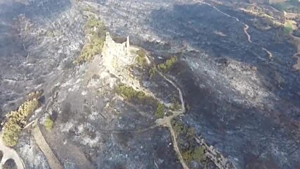 Spain: Drone captures forest calcined by wildfire in Tarragona