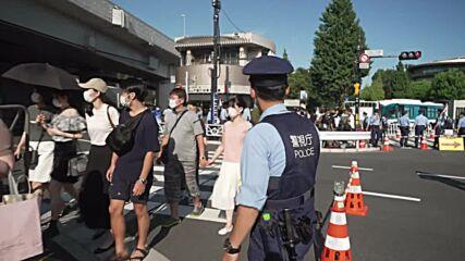 Japan: Heavy police presence outside Japan National Stadium ahead of Olympics opening ceremony
