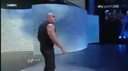 The Rock returns to Wwe Raw - 2 - 14 - 2011