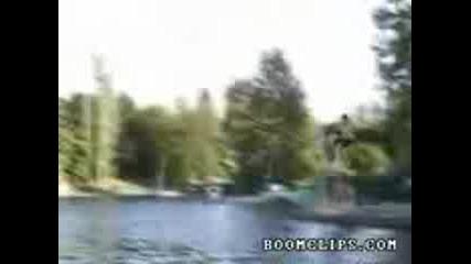 bmx lake jumping