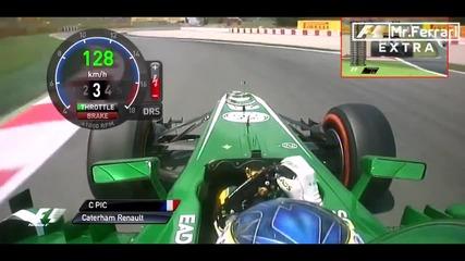 F1 Гран при на Испания 2013 - Pic на Fp2 [hd][onboard]