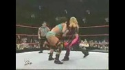 Backstage and match.. Ashley,  Trish,  Mickie vs Victoria,  Candice,  Torrie