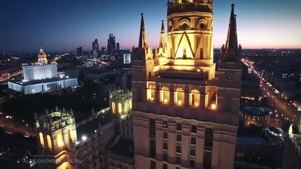 Best of Epic Moscow city Aerial Reel flight