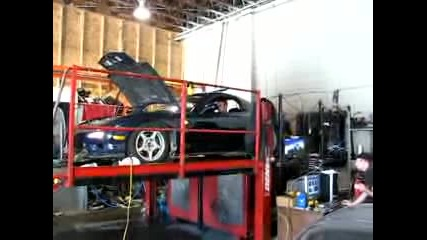 Mazda Fd3s Rx7 T68 turbo on dyno