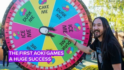 Steve Aoki raises $250 for brain research with 'The Aoki Games'