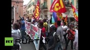 Italy: Migrants protest European immigration policy in French-Italian border town