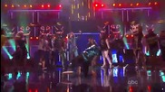 Lmfao , Justin Bieber, David Hasselhoff и Will.i.am закриват Amas - Party rock / Sexy and I know it