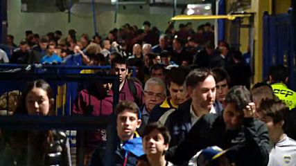 Argentina: River Plate fans ecstatic ahead of Boca Juniors clash