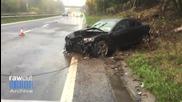 Безразсъден шофьор катастрофира с Mazda Rx8 поради несъобразена скорост !