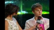 Nina Dobrev and Ian Somerhalder at the 2011 Mmva + Selena Gomez and Justin Bieber