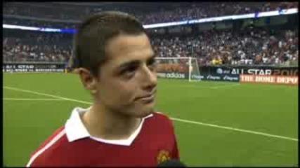 Интервю с Чичарито Ернандес след мача на Ман Юнайтед