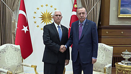 Turkey: Pence meets with Erdogan to discuss Syria offensive