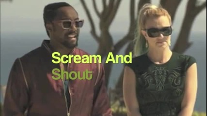 Will.i.am ft. Britney Spears - Scream And Shout (clean) - Субтитри
