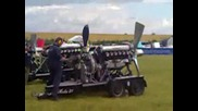 Rolls Royce 12 cylinder Merlin Spitfire Engine (1200hp)