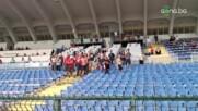 Феновете на ЦСКА 1948 с послание към съперника