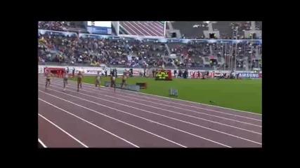 Ивет Лалова е европейска шампионка.. Финишира първа на 100 метра