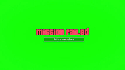Gta V Mission Failed 1080p Green Screen Requests.mp4