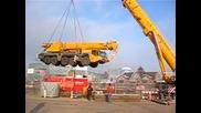 500 тонен кран вдига 160 тонен кран