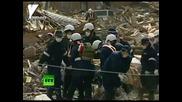Разчистване на отломките след цунамите в Япония