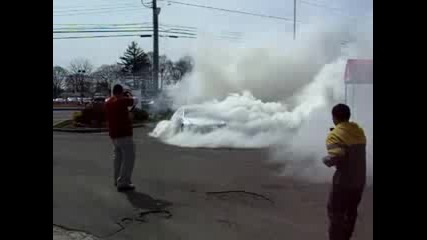 Mercedes Benz auto Addiction Sl65 Renntech Burnout