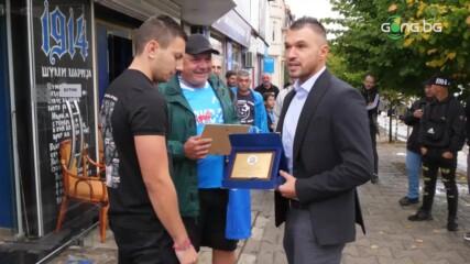 НКП на Левски връчи плакет на Валери Божинов