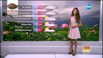 Прогноза за времето (12.09.2015 - сутрешна)