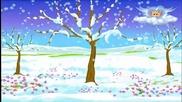 Зимата снежни къдели преде