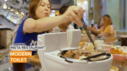Insta Restaurant: Would you eat and drink out of a toilet bowl?