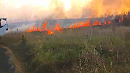 Пожар край Банево 3