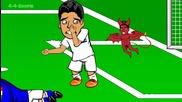 Луис Суарес хапе Киелини - Италия срещу Уругвай от 442oons 0-1 (world Cup Cartoon 24.6.14)