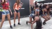 Bonde das Maravilhas ousam em coreografia no Som do Galero e Caldeiro Beat98 nas ruas