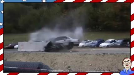Ето какво става с колата при кастрофа с 200 км/ч