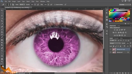 2 начина как да променим цвета на очите си - Photoshop Уроци за Начинаещи Епизод 5