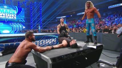 King Corbin and his court slam Roman Reigns through a table: SmackDown, Jan. 10, 2020