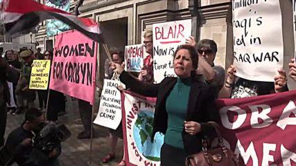 UK: Anti-war protestors rally before Iraq Inquiry report release